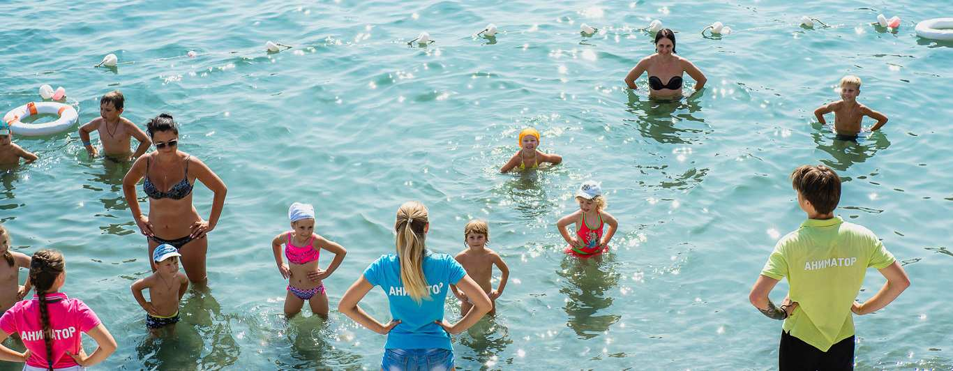 Анимация с детьми в бассейне Берегового