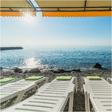Пляж Берегового для отдыха в Крыму